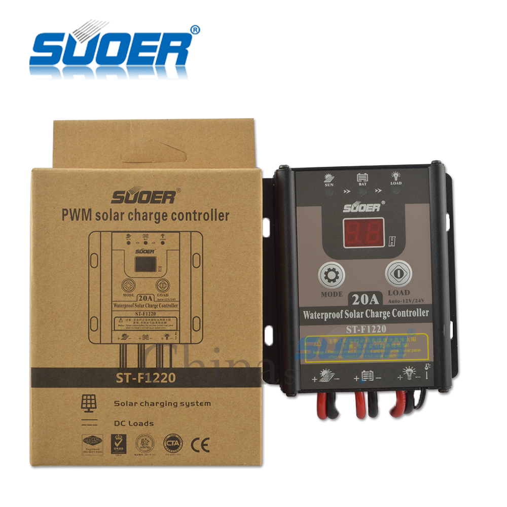 Suoer Solar Controller 12v 24v 20a Manual Pwm Charge Charging Circuit Controllerst F1220 In Controllers From Home Improvement On Alibaba Group