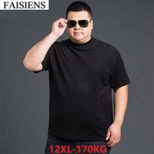 Fessiens – T-Shirt à manches courtes pour homme, haut estival et ample, en coton, résistant, grande taille, 10xl, 12xl, pour 150KG et 160KG