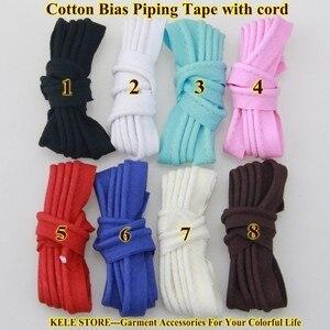 Image 3 - Miễn phí vận chuyển % cotton Thiên Vị Đường Ống, thiên vị piping tape có dây, kích thước: 12 mét, 15yds DIY làm, may home textile handmade Hồng