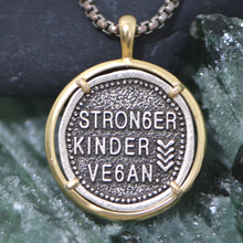 Stronger Kinder Ve6an pendant necklace