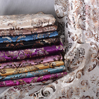 1 Meter Luxury Soft Velvet Jacquard Chenille Upholstery Fabric Flowers For Sofa Pillow Cushion Dining Chair Cloth Tela Tissu