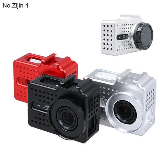New Action Camera Accessories CNC Aluminum Xiaoyi 2 4k Frame Case + UV Protector Lens Cap Cover For Xiaomi Yi 2 4k Camera