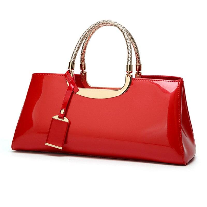 Image 3 - High Quality Patent Leather Women Bag Travel Shoulder bag for  women 2018 Tote Italian Leather Handbags Sac A Main bolsa  femininaTop-Handle Bags