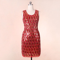European And American High End Women S Embroidery Beads Diamond Sequined Lady Dress KR3010