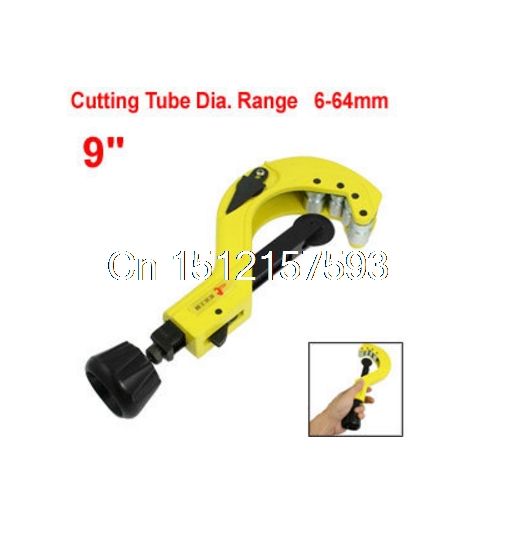 6-64mm 1/4-1 1/2 Yellow Cutting Copper Iron Pipe Tube Cutter Tool 9 mxfans alloy front rear servo link gold upgrade for hsp rc1 10 truck 106017 set of 2