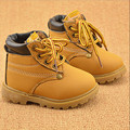2016 NEW Winter kids Warm Snow boots Children Warm Antiskid Snow Boots Cow Muscle Bottom Kid Cow Leather Shoes Size 21-30