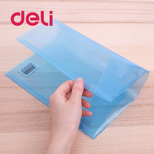 купить Deli 10pcs A4 Clear Document Bag Paper File Folder Stationery plastic information snap file bag storage School Office Case PP в интернет-магазине