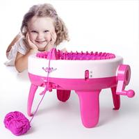 40 Needle DIY Kids Knitting Machine Craft Toy Weaving Loom Knit Tools for Scarf Hat Child Learning Sewing Educational Toy Gifts