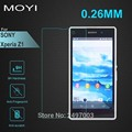 1 шт./лот 0.26 мм Премиум Закаленное Стекло для Sony Z1 Compact M51W 9 9н 2.5D Дуги Край Протектор с Чистые Инструменты