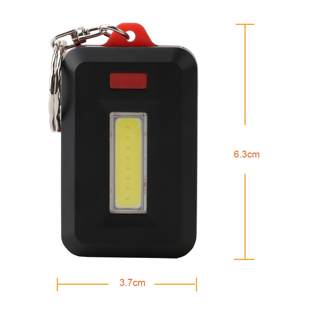 Mini LED Flashlight Keychain Portable Keyring Light Torch Key Chain 45LM 3 Modes Emergency Camping Lamp backpack light