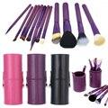 12 Pcs Mulheres Maquiagem Profissional Escova Set + Copo titular Cosméticos Pincéis Para Maquiagem Ferramentas de Pincel de Maquiagem Kits HB88