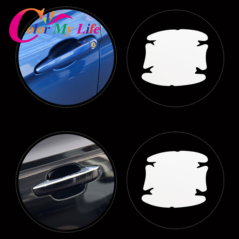 4Pcs/Set Door Bowl Protective Film Sticker For Nissan Teana X-Trail Qashqai Livina Sylphy Tiida Sunny March Murano Geniss Juke цена
