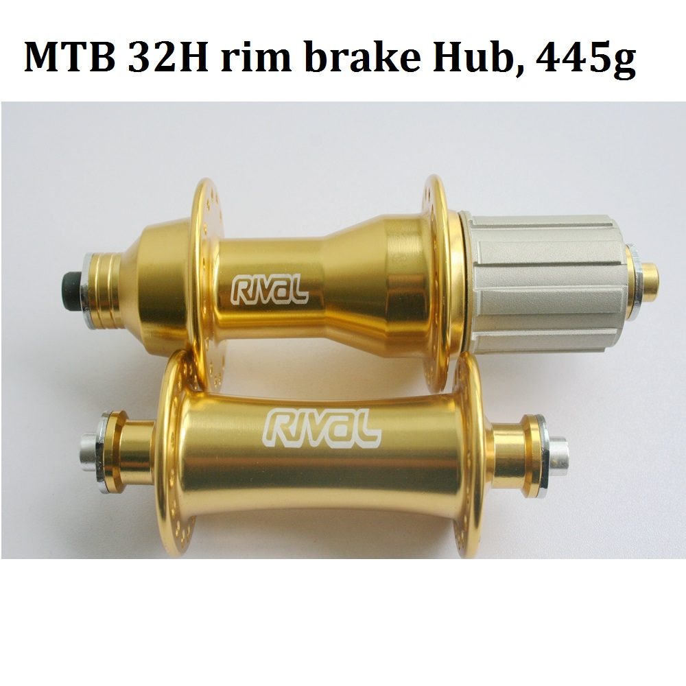 Bicycle hub 32H Gold MTB Rim V Brake hub alloy Rival KFS626 627 sealed bearing Superlight 8 9 10speed cassette 440g