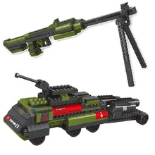 Arms series Model Building Blocks Classic Sniper Rifle / Tank Toys For Children Deformation of the building blocks