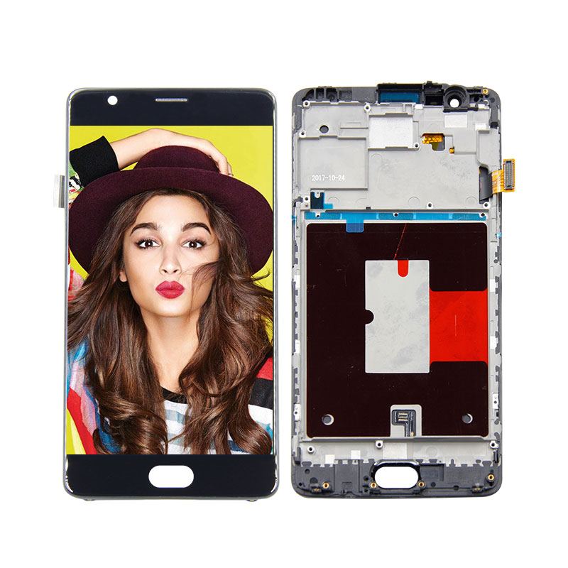 For Oneplus 3 A3000 A3003 LCD Display Touch Screen Digitizer Assembly With Frame Free Tools Replacement