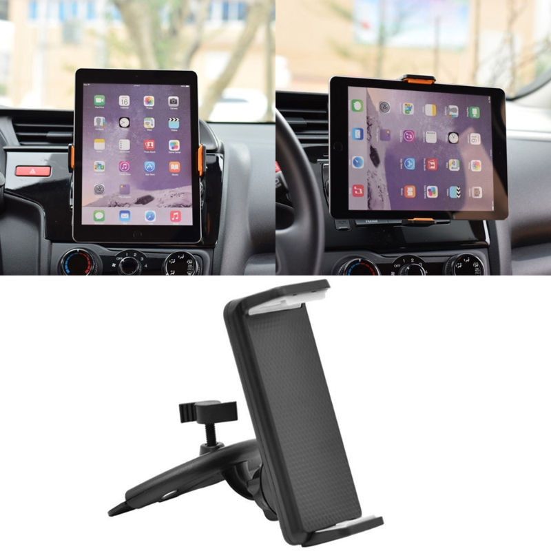 360 Rotation Car CD Slot Mount Holder Stand For 4-11 inch Smart Phone Tablet PC 360 degree rotation car suction cup stand holder mount bracket for gps cell phone black red