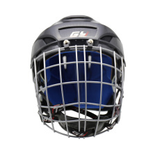 GY PP Shell Soft PU Liner Ice Hockey Helmet & Face Mask Combos Sweeping View black Color