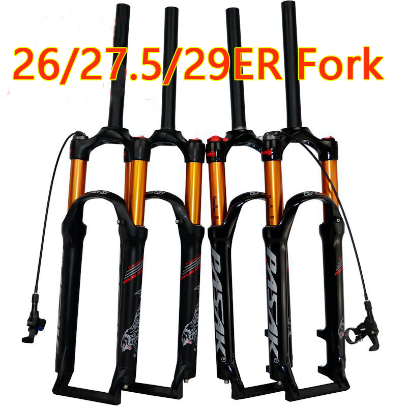 PASAK bicycle air fork 26 <font><b>27.5</b></font> 29 ER <font><b>MTB</b></font> mountain <font><b>suspension</b></font> fork air resilience oil damping line lock for over SR SUNTOUR EPIX image