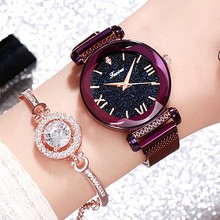 Top Luxury Brand Crystal Ladies Watch Women Magnet Buckle Dress Watches Woman Quartz Watches Stainless Steel Watch reloj mujer 2018 woman watch fashion luxury ladies quartz wristwatch top brand leather band watch women watches ladies dress reloj mujer new