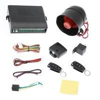 Auto Vehicle Burglar Alarm Protection Keyless Security System Car Alarm System Anti Thief Device With 2