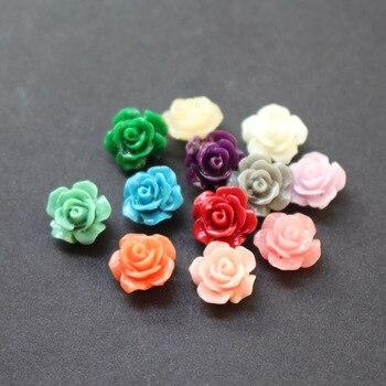 20 pièces/lot 10mm perles de corail artificielles Cabochon Camelia fleur perles de mode multicolore pour la fabrication de bijoux accessoires de bricolage