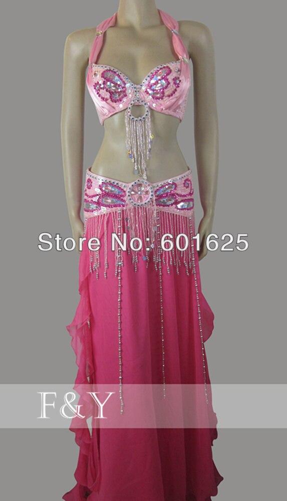 wholesale new  belly dance costume set BRA+belt 2 piece/ set accept size,B/C/D/DD CUP 34-42DD