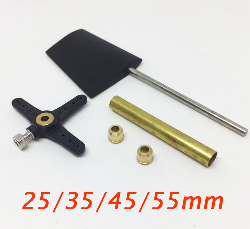 RC Boat Plastics Rudder Steering-wheel T1 Series Spare Parts Fit For RC Feeding Boat ABS Rudder 25/35/45/55mm