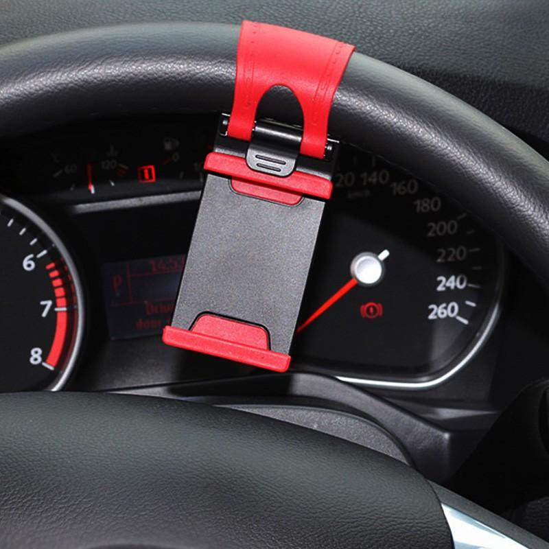 YeeSite Universal Car Steering Wheel Clip Mount Holder for iPhone 8 7 7Plus 6 6s Samsung Xiaomi Huawei Mobile Phone GPS 3