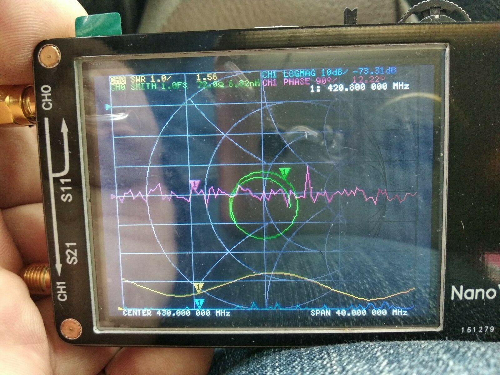 New HF VHF UHF UV NanoVNA Vector Network Analyzer Antenna Analyzer + 2 8  inch LCD + Battery