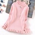 Новые Большие Девочки Свитер Детей Осенние Одежды одежда для Детей Свитера Девушки Свитер Детская одежда