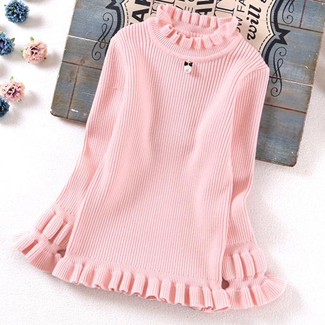 Novos Grandes Meninas Camisola das Crianças Roupas de Outono Criança roupas Camisolas Meninas Camisola roupa Dos Miúdos