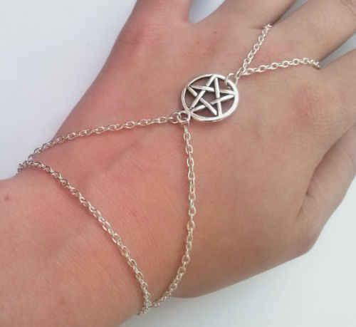 Pace Slave Braccialetto Chain, Pentagram Slave Braccialetto Chain, Handmade