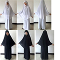 Mujeres Oración Prenda Conjunto Ropa Hijab Islámico Jilbab Abaya Vestido Largo Chilaba Falda