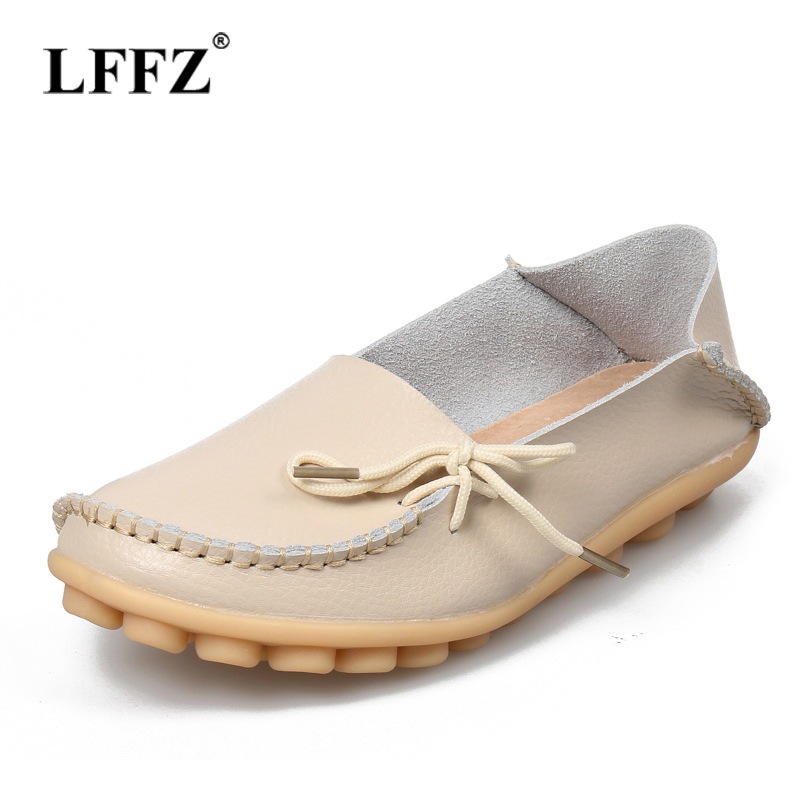 Lzzf 2018 Nurse Slip on Shoes for Women Woman Loafers Flat Moccasins Genuine Leather Casual Ladies Footwear Tenis Big Size new genuine leather women s casual shoes slip on woman flat shoe flexible women loafers moccasins female footwear big size 35 40