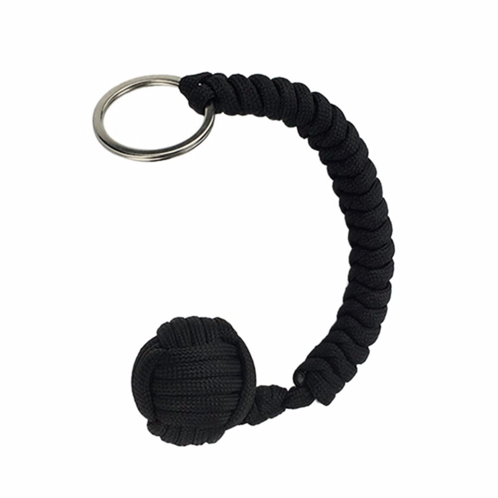 Outdoor Security protecting Monkey Fist Self Defense Tool Lanyard Survival Multifunctional Key Chain For Girl Free Shipping ...