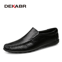 DEKABR Genuine Leather Men Casual Shoes Breathable Spring Summer Brand Handmade Loafers Driving Men Shoes Plus