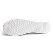 HUANQIU Women White Shoes with Holes Leather Famous Brand Female Casual Shoes Tails 2017 New Fashion Leisure Flats Breathable