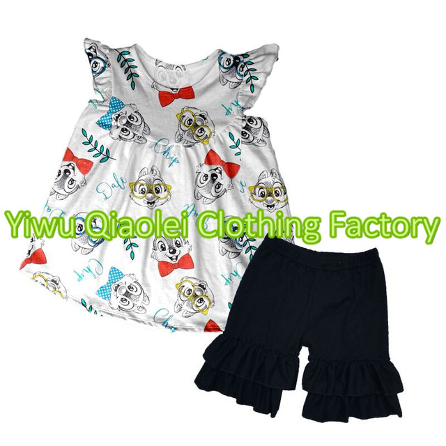 d062b8637f0eb Bulk wholesale kids clothing set cute baby girl summer clothes animals fashion  children girls outfits