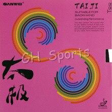 SANWEI тайцзи(тайчи) плюс 40+ резиновый(наполовину липкий, розовый немецкий стиль Натяжная губка) резиновый пинг-понг