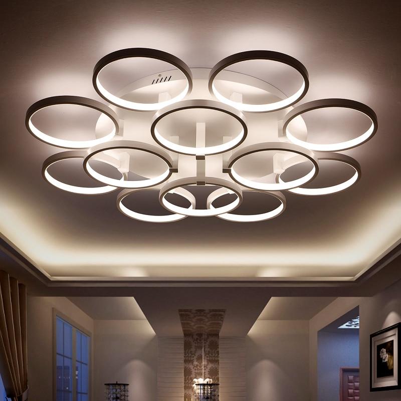 Minimalisme Circel Rings Moderne Led Lysekrone lys lampe til stuen - Indendørs belysning