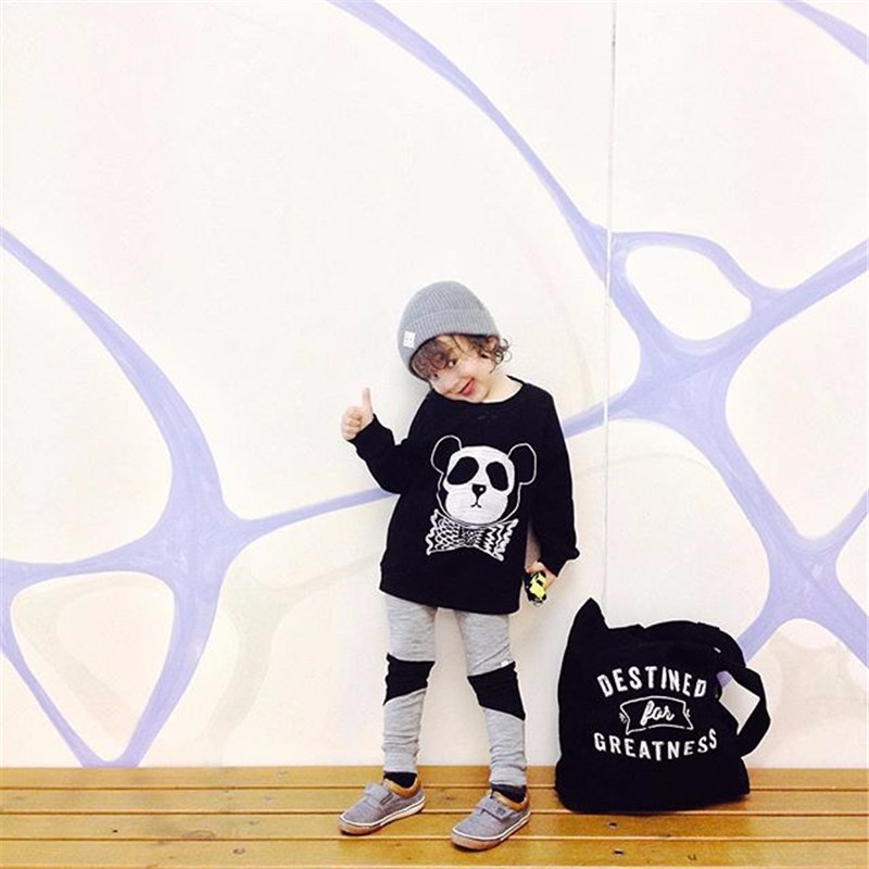 For Boys Girls Sweater T-Shirts Clothes Autumn Winter New Panda Bear Printing Tops Kids Sweatershirt  Tees Clothing Full Sleeve 12