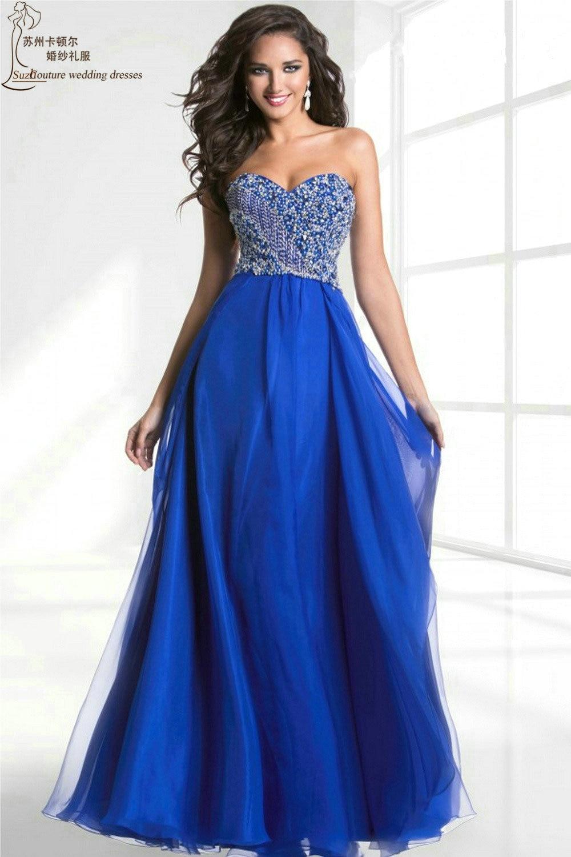 c105e3051 Vestidos de gala largos color azul - Vestidos negros