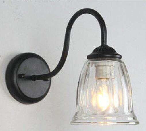 ФОТО New The restaurant creative personality simple European style wall lamp bedroom modern Mediterranean iron bar American lamp