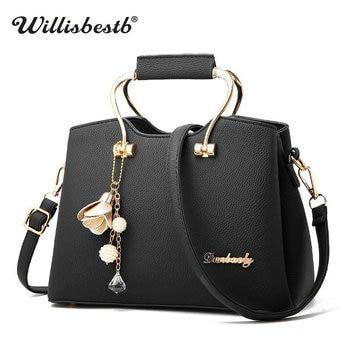 2018 New Soft Women Handbags Luxury Female Shoulder Bags For Girl Fashion Summer Leather Pu Solid Women Messenger Shoulder Bag