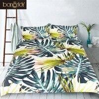 Bonenjoy Bamboo Print Bedding Set Queen King Size Luxury Duvet Cover With Pillow Case Bed Linen 3D Bed Set Family