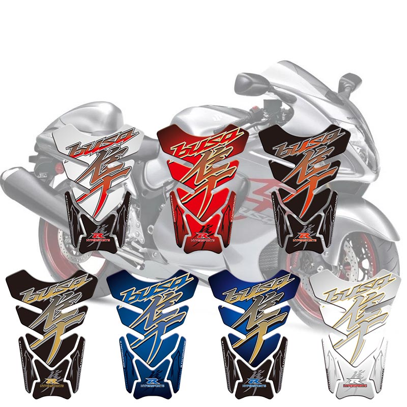 Motorcycle 3D Sticker Decal Emblem Protection Tank Pad For Suzuki Hayabusa GSX1300R