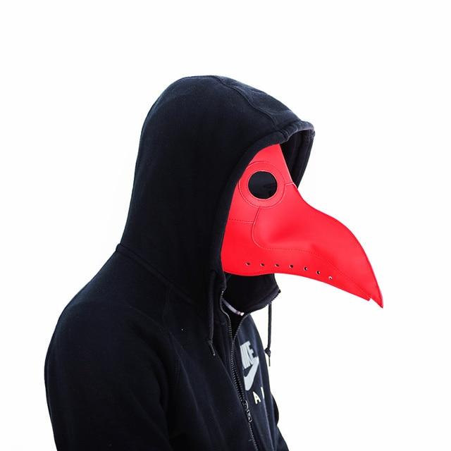 New Cosplay Steampunk plague doctor mask Bird Mask White/Black Latex Bird Beak Masks Long Nose Halloween Party Event Ball Cost 1