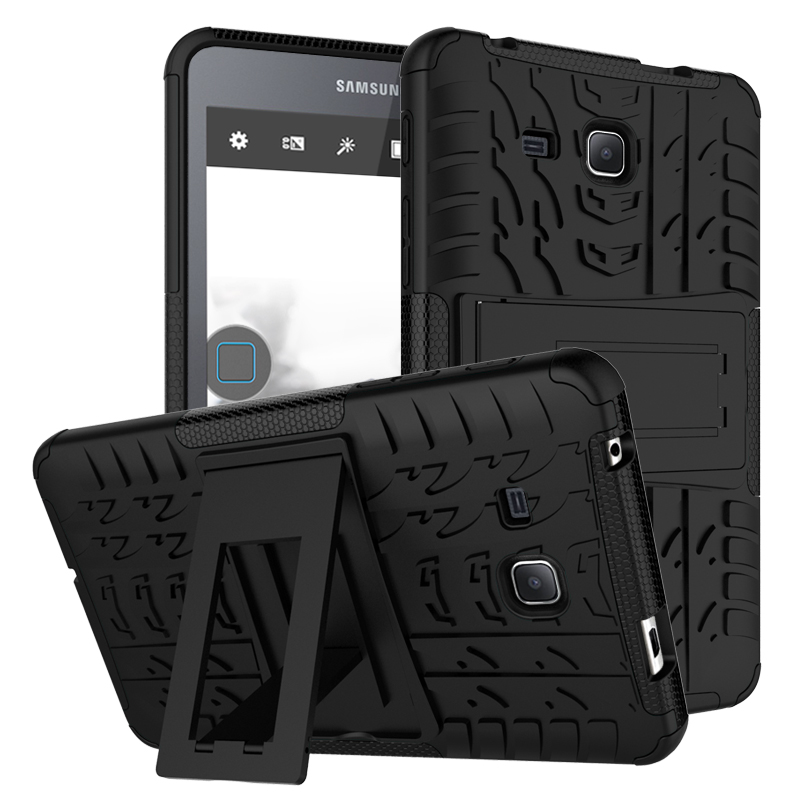 Premium Armor Stand Case For Samsung Galaxy Tab a a6 sm-T280 T285 Cover funda Capa Para Coque,Hybrid TPU+PC Back Cover Tab a 7.0 stylish pc tpu case w rotatable stand for samsung galaxy note 3 n9000 black