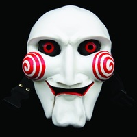 Movie SAW Cartoons Horror Resin Mask Masquerade Cosplay Halloween Party Full Face Masks
