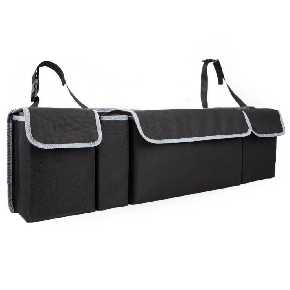 Image 2 - KAWOSEN Car Trunk Organizer Adjustable Backseat Storage Bag High Capacity Multi use Oxford Automobile Seat Back Organizer CTOB02-in Rear Racks & Accessories from Automobiles & Motorcycles
